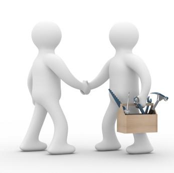 hombres y caja de herramientas Desarrollo Profesional: Compartir es Liderar