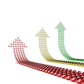 tres flechas hechas con bolas GTD: Cómo Evaluar tu Trabajo Diario