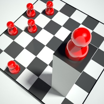 ajedrez con ficha en perspectiva GTD: Perspectiva para pensar con sentido